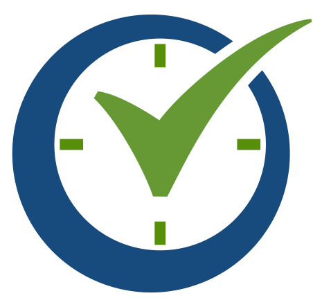 order time check mark logo