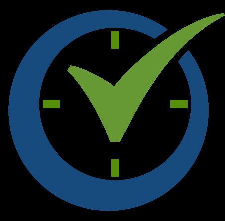 The Order Time Logo an O with a checkmark